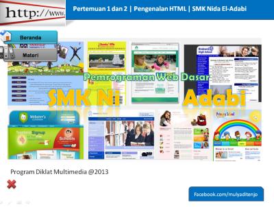 slide presentasi pengenalan html