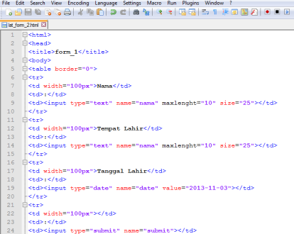 input type html