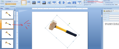 menggunakan transition sound di powerpoint