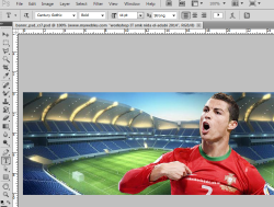 tutorial photosop membuat header web tema sepakbola