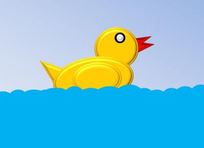 sketsa karakter animasi bebek di powerpoint4