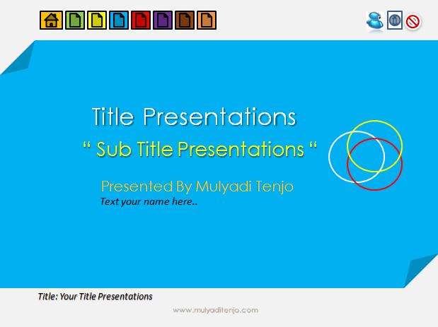 Template Powerpoint Untuk Media Belajar Interaktif Tenjocity Edukasi Digital