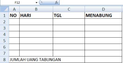 contoh tabel di excel 3