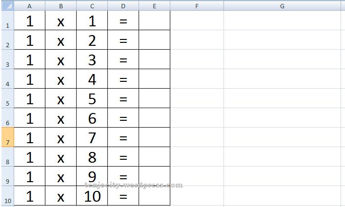 Membuat Games Sederhana di Microsoft Excel