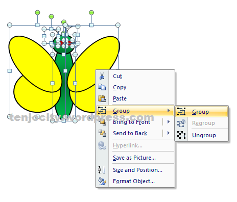 membuat animasi kupu kupu menggunakan powerpoint